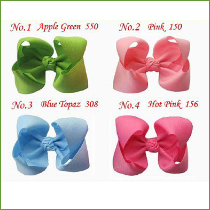 200 BLESSING Good Girl Costume Boutique 3.5 Inch ABC Hair Bows Clip 474 No.