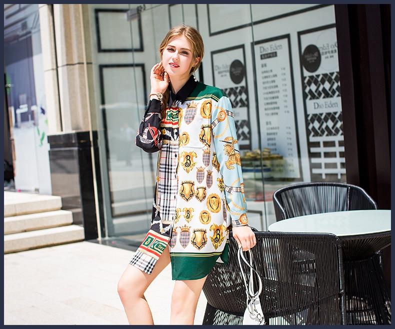 WE07525 Fashion women's Blouses & Shirts 2018 Runway Luxury Brand European Design party style women's Clothing