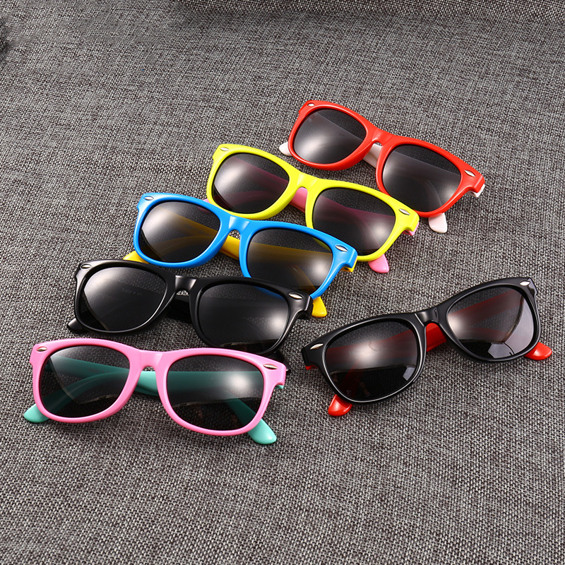 Silica gel polarizing sunglasses for children cartoon sunglasses for boys and girls Personalized Baby glasses for children in Sunglasses from Mother Kids