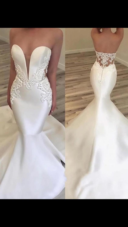 Vestido De Noiva 2018 Lace Wedding Dresses Long Mermaid Sweetheart Appliques Saudi Arabic Women Wedding Gown Bridal Dresses in Wedding Dresses from Weddings Events
