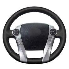 """יד תפירה שחור PU עור מלאכותי רכב מכסה לעטוף עבור טויוטה פריוס 30(XW30) 2009 2015 פריוס C (ארה""""ב) 2012 2017"""