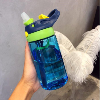 480ML Baby Kids Children Portable Feeding Drinking Water Bottle Cup With Straw baby feeding water bottle portable no spill cup my plastic bottle children s small kettle with straw food grade slide cover copo