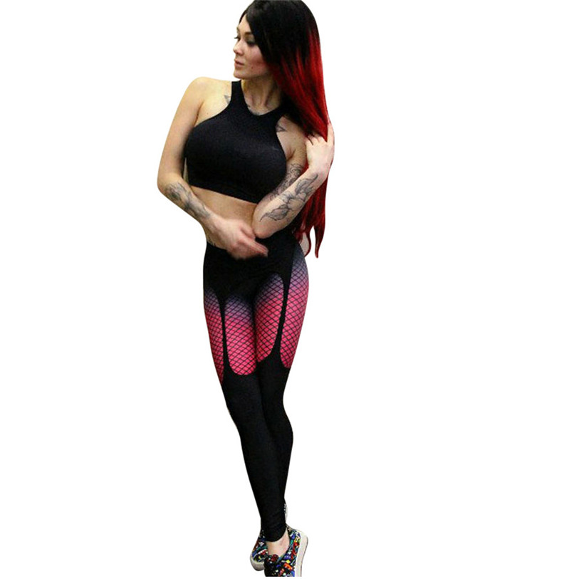1PCS Women Pants 2017 New Fashion Women Printted Skinny Fitness Stretchy Pants Leggings High Quality Black Plus Size Mar 28