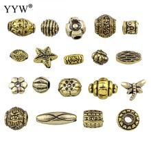YYW High Quality Resin Jewelry Beads Mixed Imitation Antique Golden Heart Flower Star Beads For Jewelry Making 500gram/Bag