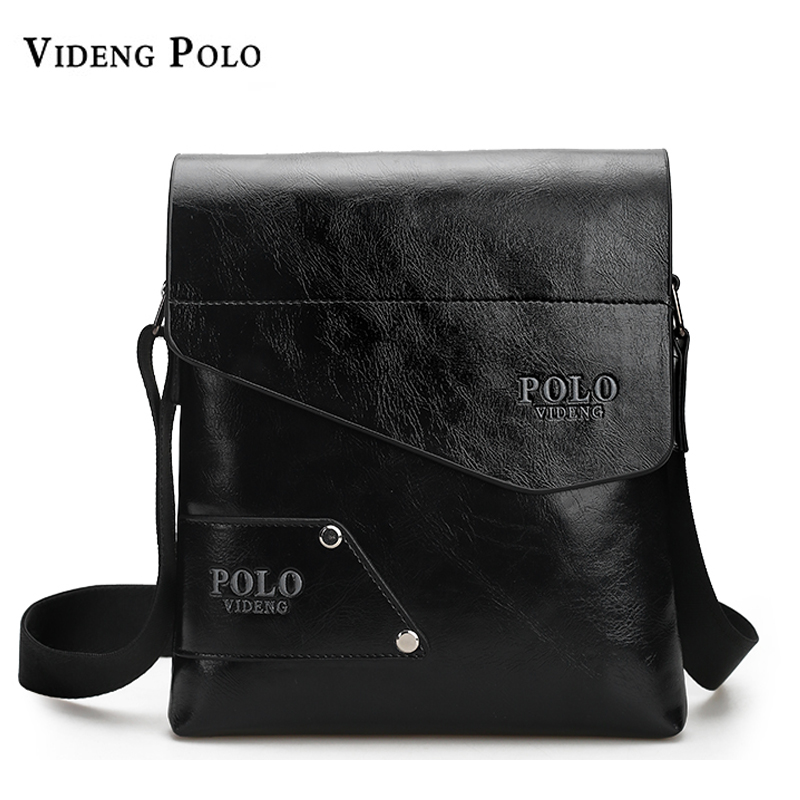 VIDENG POLO Luxury Brand Men Bags Fashion Business Man Shoulder Bag Leather Casual Crossbody Messenger Bags Travel Briefcase 2016 new fashion business bags brand polo men s travel shoulder bags small messenger bags men s crossbody bags m208