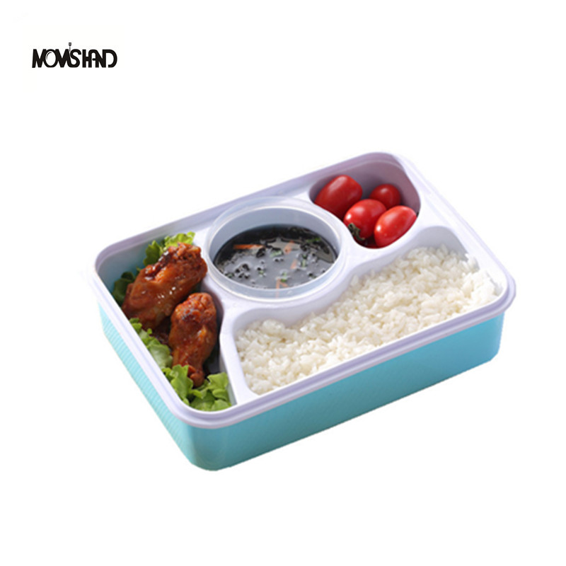 4 compartments bento lunch box food container with spoon dinnerware set in dinnerware sets from. Black Bedroom Furniture Sets. Home Design Ideas