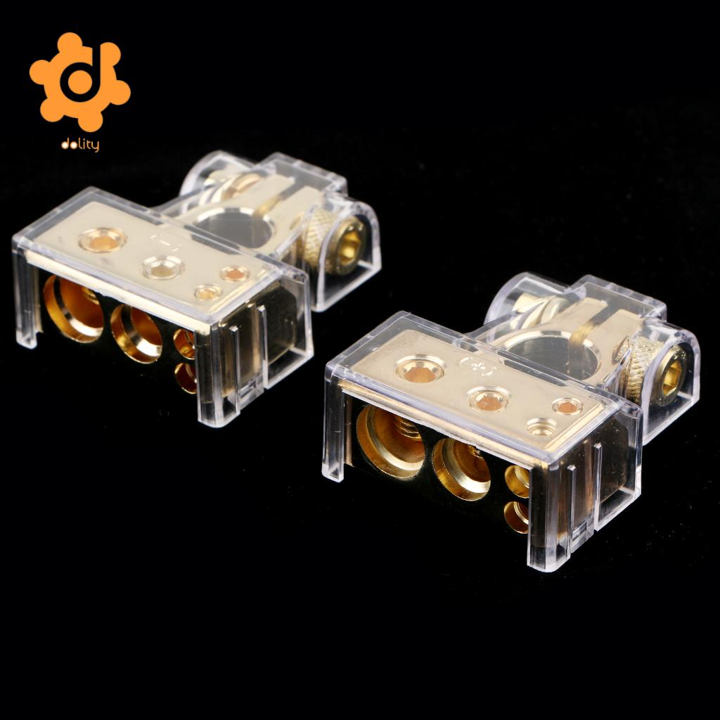 2pcs Positive Negative Battery Terminals Connectors Clamps with Covers