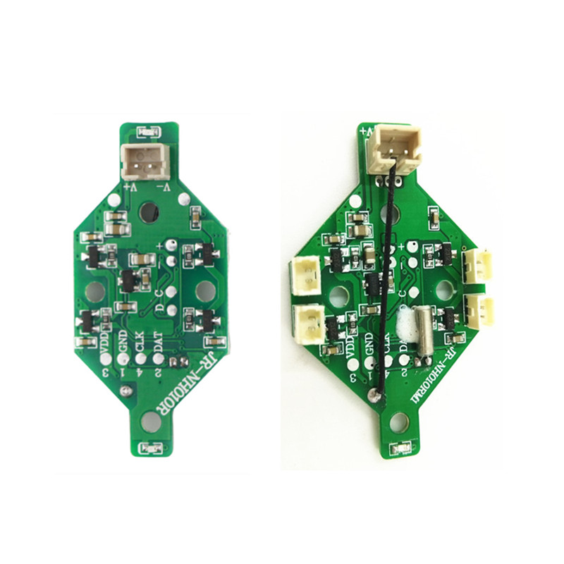 DIY Drone Receiver Board with Terminals Plug or Soldering Version for Eachine E010 JJRC H36 Inductrix Tiny Whoop RC Drone Parts eachine beecore upgrade v2 0 brushed f3 osd flight control board for eachine e010 e010s jjrc h36 rc drone racing racer fpv