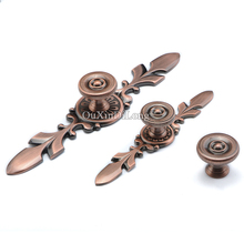 Retro 2PCS European Kitchen Cabinet Door Handles Cupboard Wardrobe Drawer Cabinet Pulls Handles & Knobs Furniture Hardware