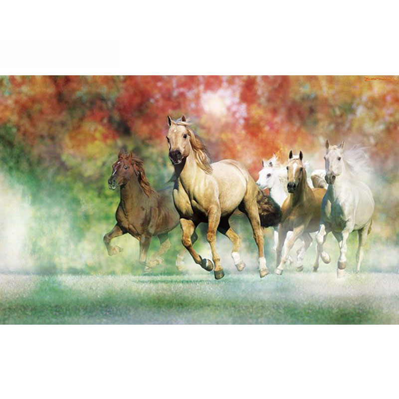 Needlework DIY DMC 14CT unprinted Cross stitch kits For Embroidery Horses Running Counted Cross-Stitching embroidered crafts