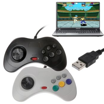 USB Classic Gamepad Controller Wired PC Game Controller Joypad for Sega Saturn PC For Laptop Notebook 3 pcs wired usb joystick usb pc gamepad gaming controller game joypad for pc computer laptop gift free shipping