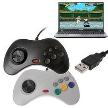 USB Classic Gamepad przewodowy komputer kontroler do gier Joypad do komputera Sega Saturn do laptopa Notebook