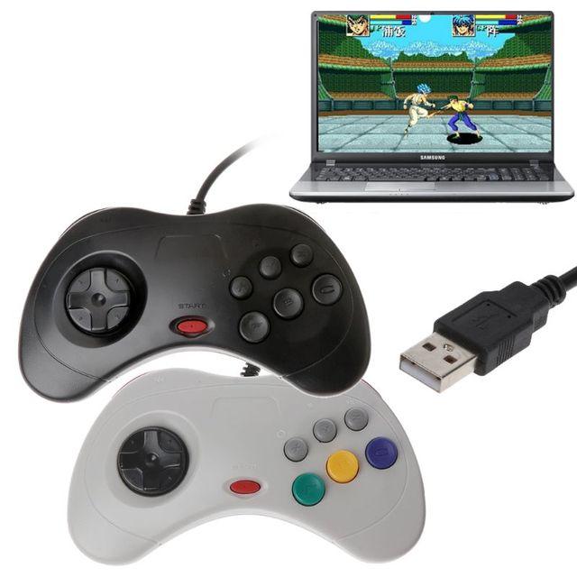 Классический игровой контроллер USB, проводной игровой контроллер для ПК, джойстик для ноутбука Sega Saturn
