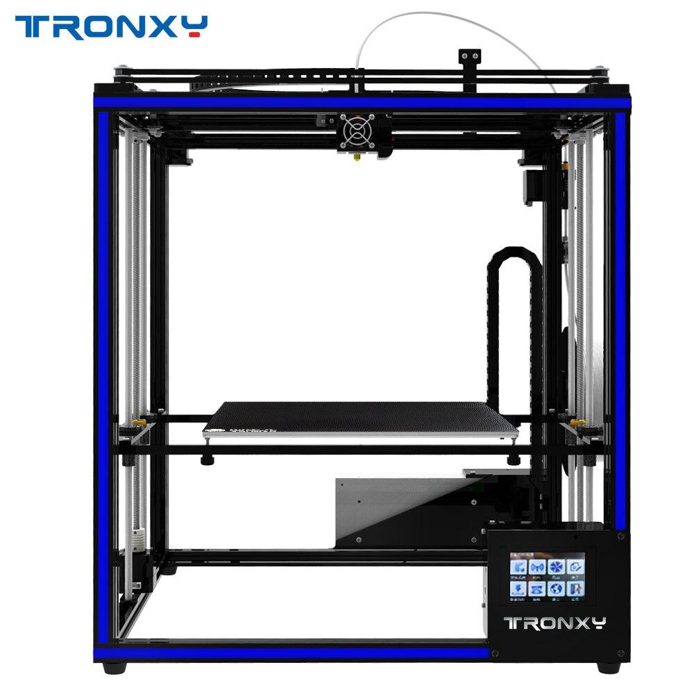 2018 offre spéciale Tronxy bricolage 3D imprimante X5ST-400 Kits Plus Grande 3D Taille D'impression PLA 1.75mm Filame