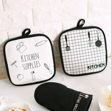 Anti-skid Insulation Cotton Square Cute Table Mat Potholder Drink Coasters Kitchen Hot Pot Place Mats Tableware Tool