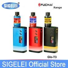 Original SIGELEI FuChai Gama FuChai GLO MOD GLO T3 KIT e cigarrillo electrónico vapor de alta potencia