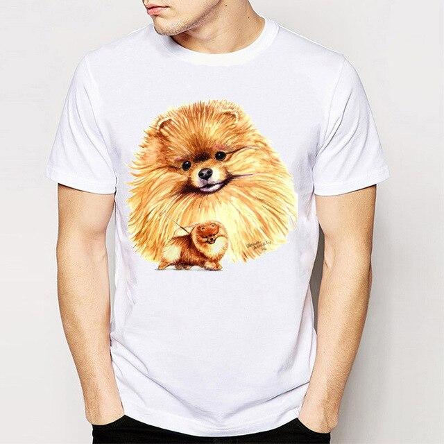 8383f04b3 Novelty Design Men's Short Sleeve Best Friend German Spitz/Pomeranian T  Shirt Funny Tee Shirt Tops Young Man T Shirt