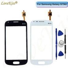 Передняя панель для Samsung Galaxy Trend S7560 S Duos S7562 GT-S7562 7562 7560 сенсорный экран сенсорный ЖК-дисплей дигитайзер стеклянная крышка