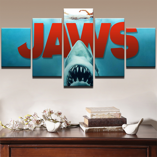 Modularen Bilder Wohnkultur Shark Leinwand HD Print Malerei Gerahmte ...