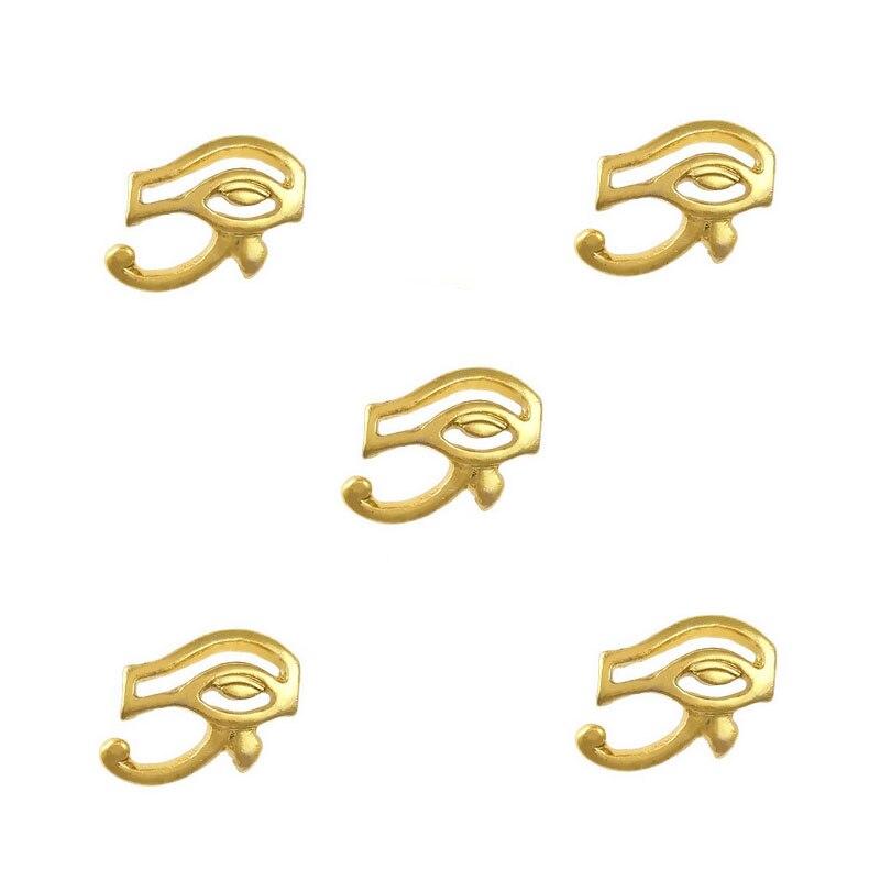 13f88d44b6809 ̿̿̿(•̪ )Egypt002 10 قطع عين حورس مصر موضوع الذهب 3d مسمار الفن سبيكة ...