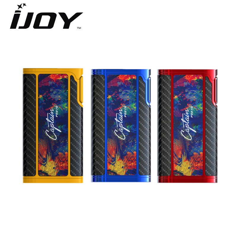 цена Original IJOY Captain PD270 Box MOD 234W NI/TI/SS TC Electronic Cigarette Vaper Power by Dual 20700 Vape Mod Vaporizer Atomizer в интернет-магазинах