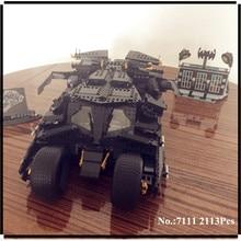 IN STOCK Upgrade  7111 2113PCS Oversized Bat Car Batman The Combat Vehicle Bricks Giant Building Block Toys 78023