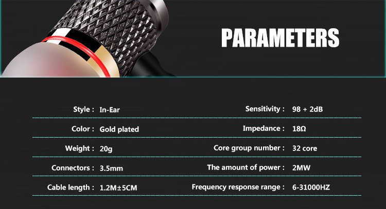 KZ-ED2 Professional In-Ear Earphone Metal Heavy Bass Sound Quality Music Earphone China's High-End Brand Headset fone de ouvido 17