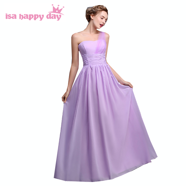 robe de soiree fashion elegant long lilac one shoulder bridesmade ...