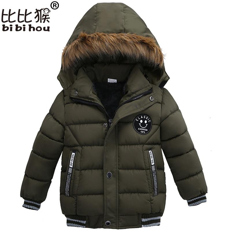 Toddler Kids Warm Autumn Winter Jackets Boys Outerwear Coats Christmas Baby Coat Snow Wear Boys Parka Snowsuit With Fur Collar 2