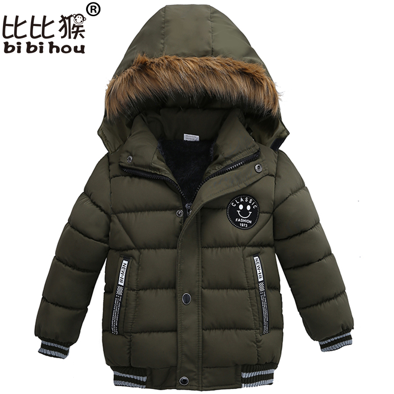 Toddler Kids Warm Autumn Winter Jackets Boys Outerwear Coats Christmas Baby Coat Snow Wear Boys Parka Snowsuit With Fur Collar