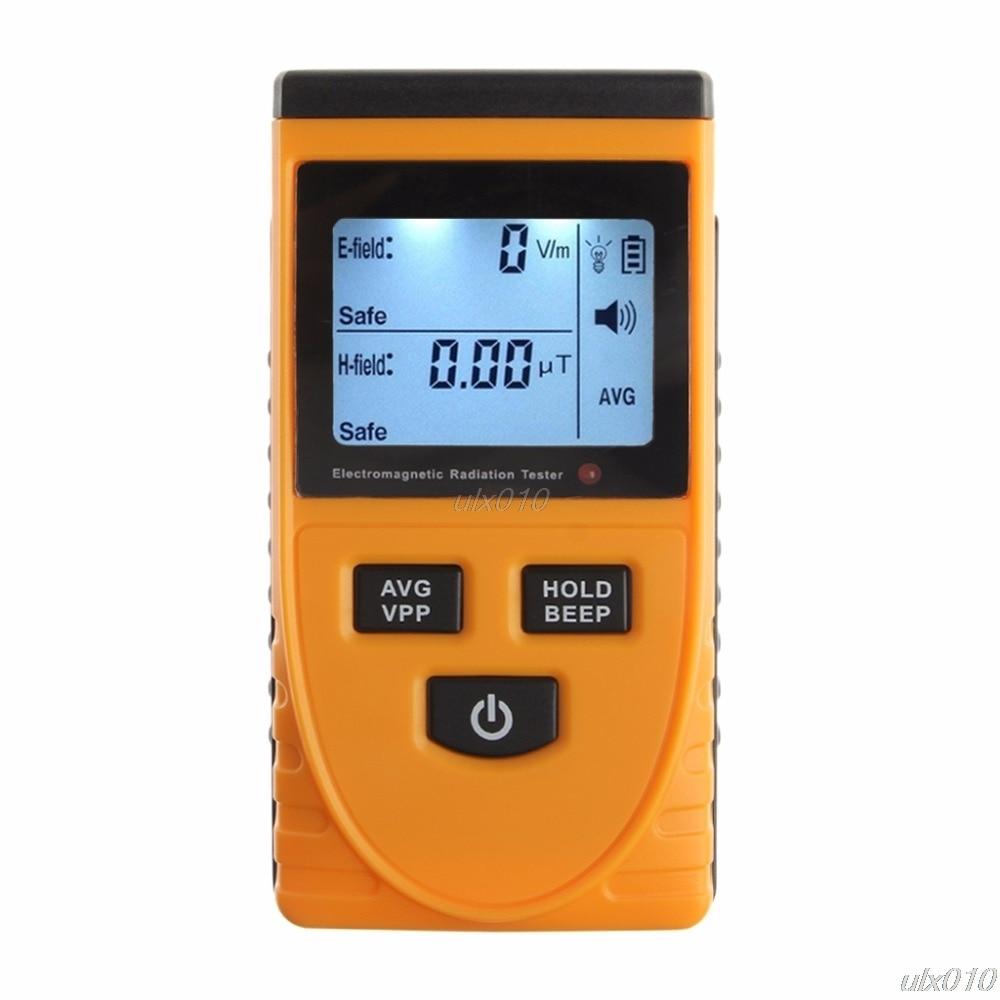 EMF Meter Digital Electromagnetic Radiation Detector LCD Dosimeter Tester Tools Detectors S18 Drop ship digital emf tester electromagnetic field radiation detector meter dosimeter tester counter lcd data hold and max measurement