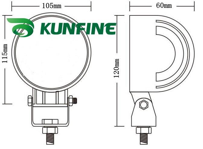 4,0 дюймов 10~ 30 В DC 21 Вт авто высокой мощности светодиодный свет работы+ 18 месяцев гарантии Водонепроницаемый KF-2321