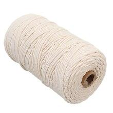 200m Wall Hanging Handmade Curtain Craft Rope Twisted Artisan Knitting Macrame Cotton Tapestry