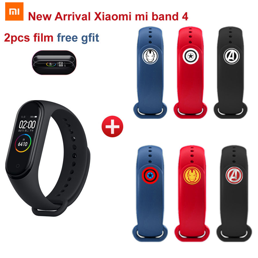 Nouveau Bracelet d'horloge Xiao mi band 4 Smart mi band 4 50 M étanche à l'eau avec écran couleur AMOLED Band4 mi band4