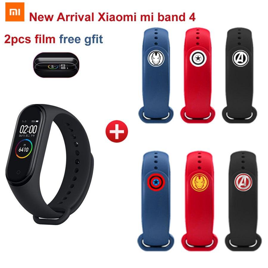 Nouveau Bracelet d'horloge Xiao mi band 4 Smart mi band 4 50M étanche à l'eau avec écran couleur AMOLED Band4 mi band4