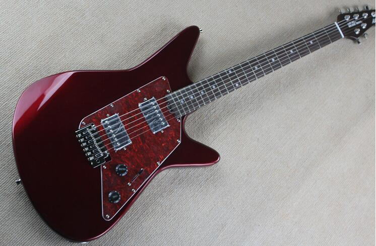 music man alberflee small double wave electric guitar metal fingerboard wood of red roses 0328