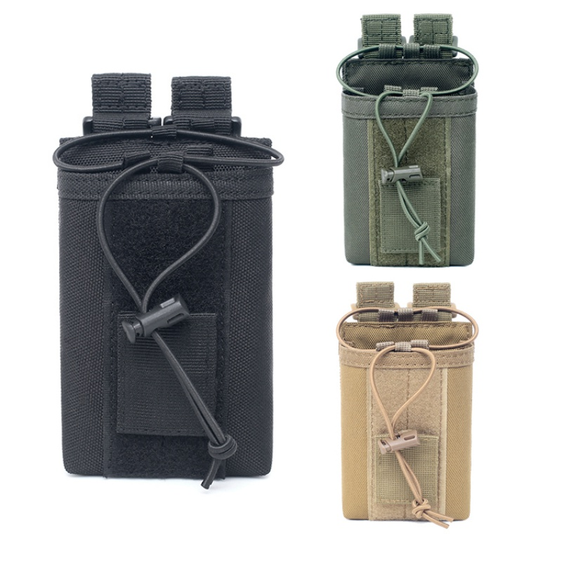 Image 2 - 1000D Nylon Outdoor Tactical Pouch Sports Pendant Military Molle  Radio Walkie Talkie Holder Bag Hunting Magazine Pouches Pocket-in Pouches from Sports & Entertainment