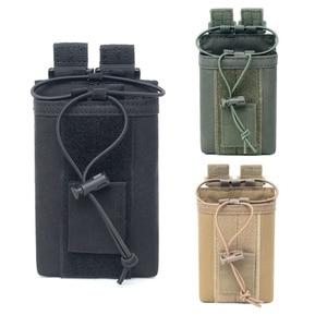 Image 2 - 1000D нейлоновый Открытый тактический Чехол, спортивная подвеска, военный Молл, радио, держатель рации, сумка для охоты, журнальные карманы