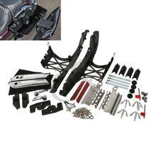 TCMT мотоцикл один комплект седельная сумка крышки с защелками Чехлы для оборудования для Harley Touring Road King Electra Street Glide FLT FLH