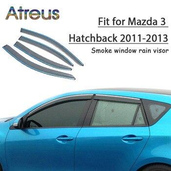 Atreus 1set ABS Rain Smoke Window Visor Car Wind Deflector For Mazda 3 Hatchback 2011 2012 2013 Accessories
