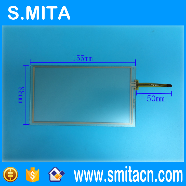 6.2 Inch 4 Wire Resistive Touch Screen ZCR-0962 For Lcd HSD062IDW1 -A00, A01 ,A02 Car DVD Navigation Screen 155*88 155mm * 88mm