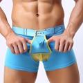 shipping men waist cotton fashion boxer underwear cotton U bullet separation convex space capsule four angle shorts