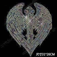 Super Shiny Angel Wings Rhinestone Applique Hot Fix Rhinestone Transfers Iron On Crystal Transfers Design For