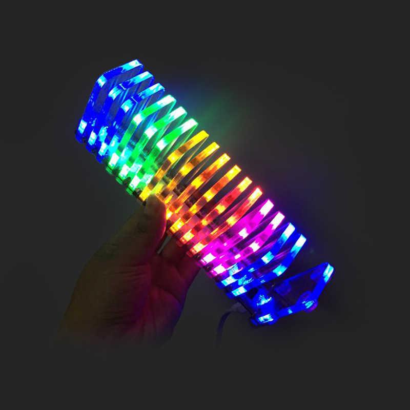 Lusya LED רמת תצוגת KS16 מוסיקה ספקטרום VU מגדל פנטזיה קריסטל עמודת קול אלקטרוני T0352