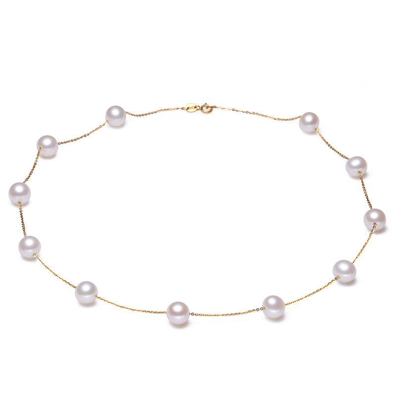 Sinya à la mode 18 k AU750 or collier perles d'eau douce étoile conception familiale choker bijoux fins pour les femmes maman amant filles en fête
