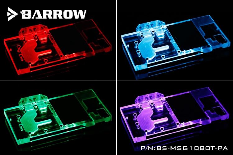 Купить с кэшбэком BARROW Full Cover Graphics Card Block use for MSI Red Dragon GTX1080TI GAMING X 11G GPU Radiator Block LRC RGB to AURA 4PIN