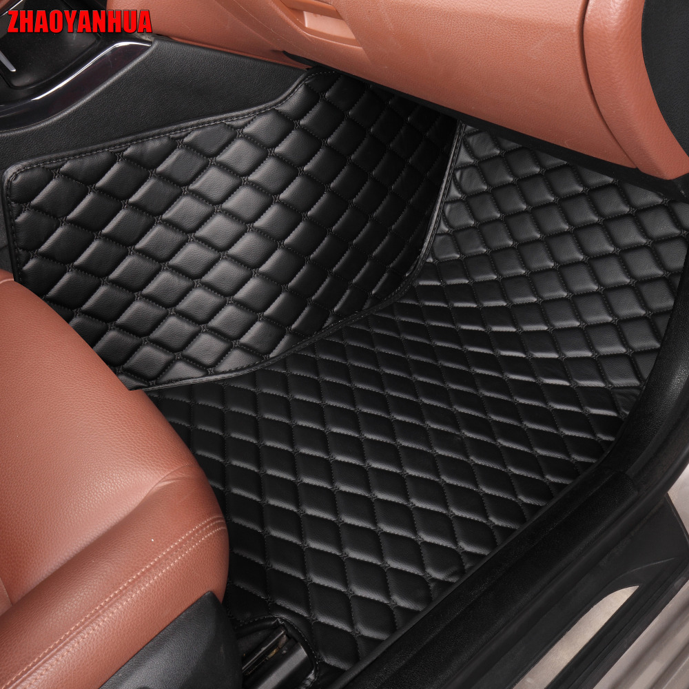 ZHAOYANHUA Car floor mats for Mitsubishi Lancer Galant ASX Pajero sport V73 V93 5D car styling all weather carpet floor liner