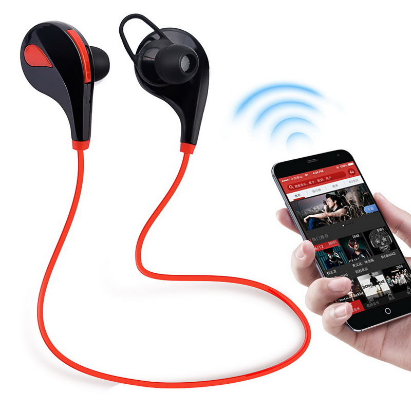 Hot Sale Stereo Wireless Bluetooth Headphones Sport Ear-Hook Wireless Earphone Bluetooth 4.1 Headset Sports With Mic for xiaomi v1 wireless headphones v4 1 bluetooth earphone sports headset ear hook earpiece with mic for iphone 7 samsung xiaomi