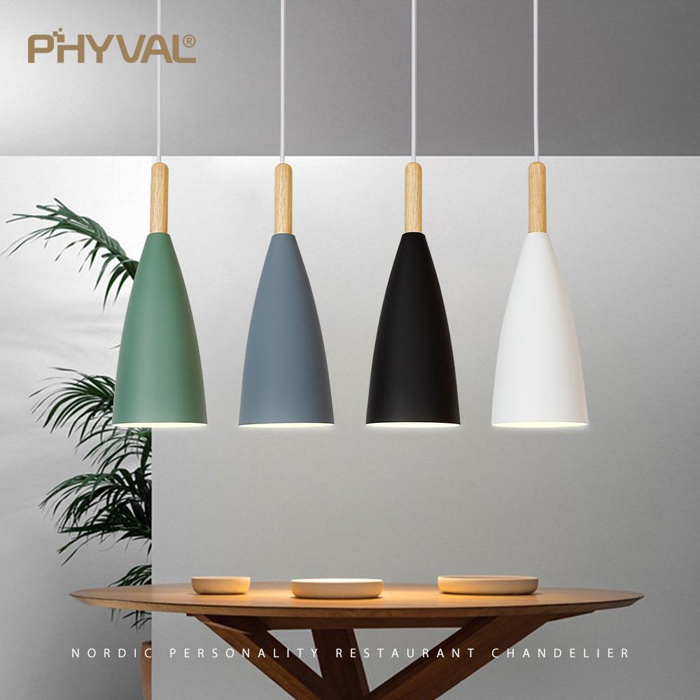 Modern Pendant Lamp Nordic Pendant Light for Dinning Room Restaurant Bedroom LED Hanging Lamp E27 Aluminum LED Night Lighting