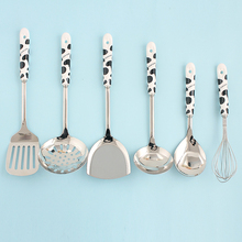 Stainless steel kitchenware pot spoon loushao spatula whishts cooking set Cooking Tool Sets
